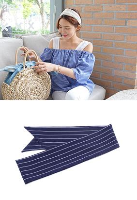 条纹领带 - 围巾