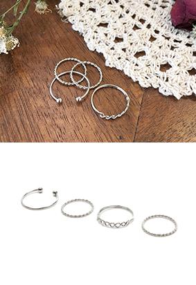 扭曲环 - 戒指(4设置)